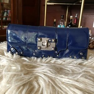 Navy blue leather Juicy Couture wallet